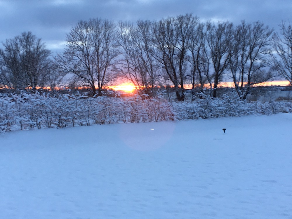 Sonnenuntergang Üselitzer Wiek